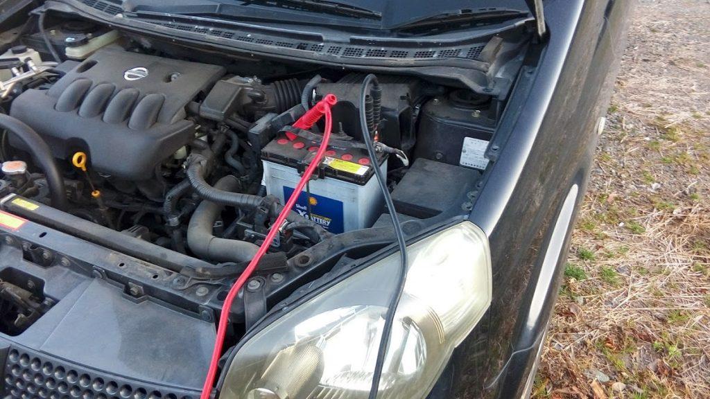 ラフェスタのバッテリー上がり救援