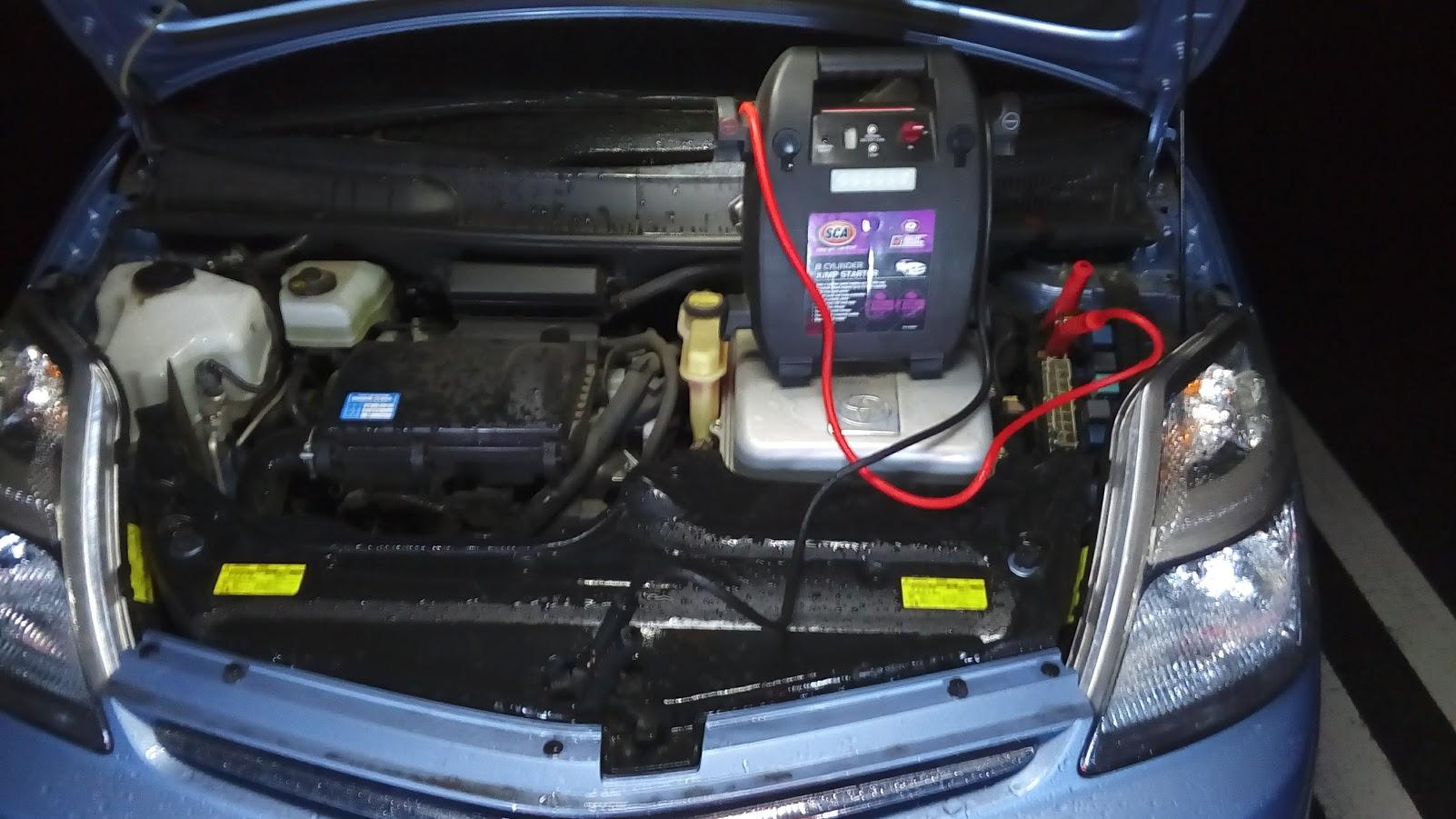 トヨタプリウスのバッテリー上がり救援