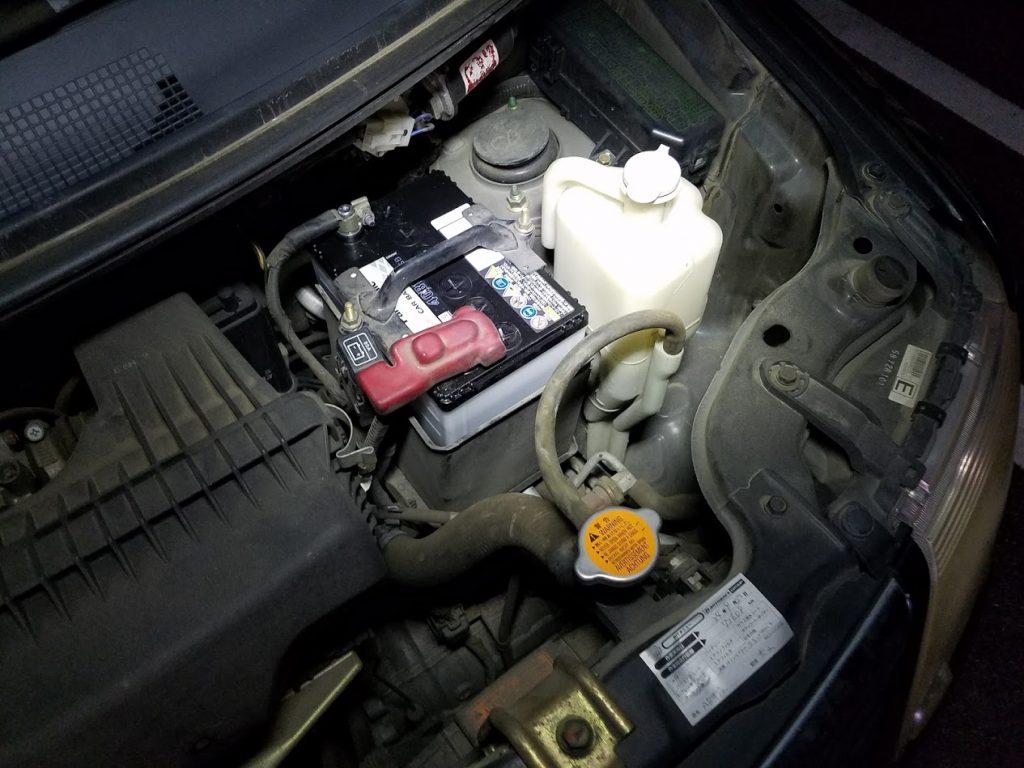 EKワゴンのバッテリー交換