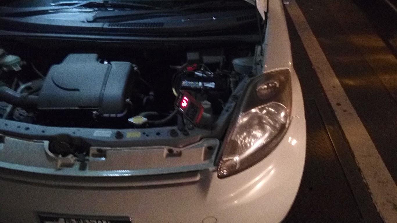 トヨタ・パッソのバッテリー交換
