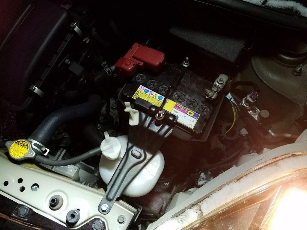 トヨタパッソの出張バッテリー交換