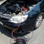 普通車のバッテリー上がり救援