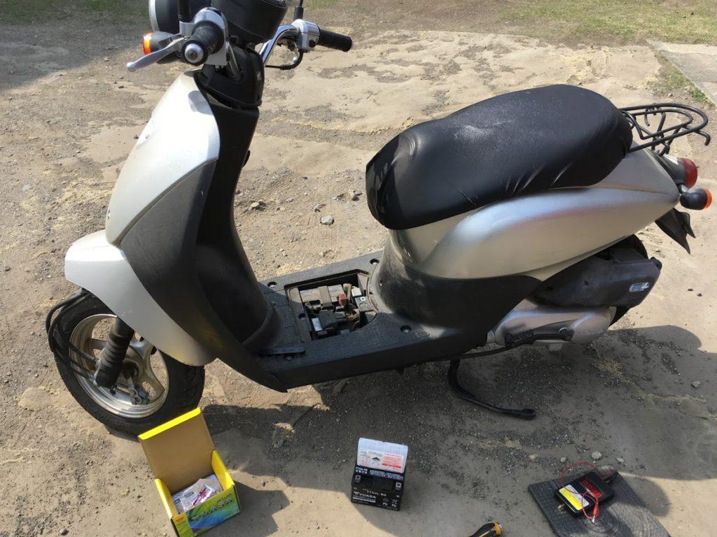 バイクバッテリー上がり救援