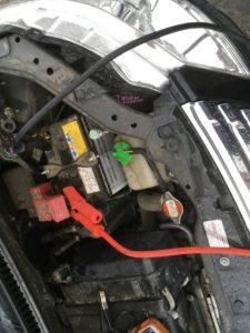 ワゴンRのバッテリー上がり救援