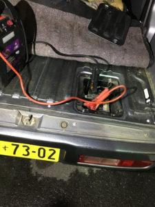 軽自動車のバッテリー上がり救援
