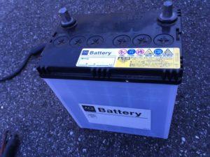 交換したバッテリー