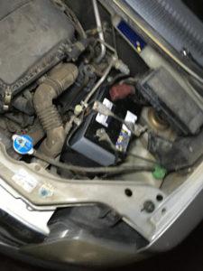 ワゴンRのバッテリー交換