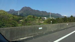 高速から見る妙義山