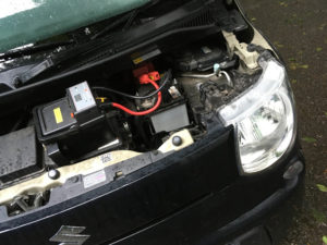 MRワゴンのバッテリーあがり
