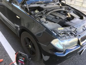 BMW・X3バッテリー上り救援